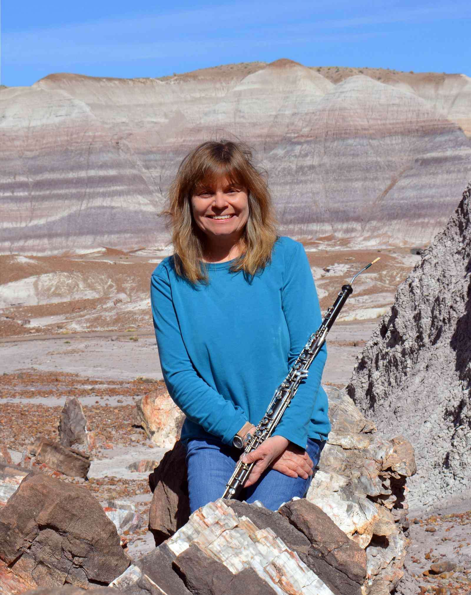 Jill at Petrified Forest National Park